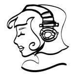 Kopfhörermädchen Stockfotos