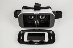 Kopfhörer der virtuellen Realität Lizenzfreies Stockfoto