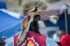 Kopfkleid und -kleidung des amerikanischen Ureinwohners ein Kriegsgefangen wow Lizenzfreie Stockbilder