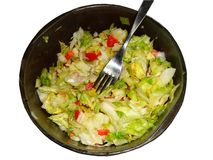 Kopfsalat, Tomate und Zwiebel Stockfoto