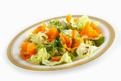 Kopfsalat und Karotte stockbilder