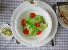 Kopfsalatsalat mit Petersilien- und Kirschtomaten lizenzfreies stockfoto