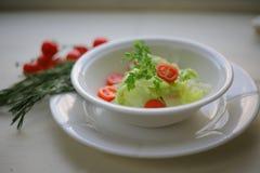 Kopfsalatsalat mit Petersilien- und Kirschtomaten stockfotos