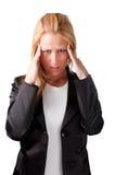 Kopfschmerzen Stockbild
