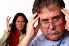 Kopfschmerzen Stockfoto