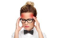 Kopfschmerzen lizenzfreie stockbilder