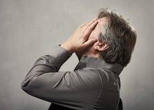 Kopfschmerzen Stockfotografie