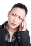Kopfschmerzen bei der Arbeit Stockfotografie
