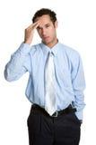Kopfschmerzen-Mann stockfotos