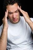 Kopfschmerzen-Mann lizenzfreies stockbild