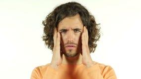 Kopfschmerzen, Schmerz im Kopf stock video