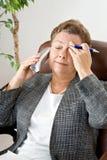 Kopfschmerzen-Stufe 3: Kein zurück sich drehen Stockbilder