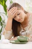 Kopfschmerzen und Pillen Lizenzfreies Stockbild
