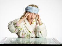 Kopfschmerzenmädchen Lizenzfreie Stockfotografie