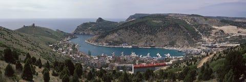 Kopfschutzhafen Stockfoto