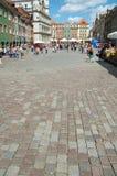 Kopfstein auf Markt in Posen Lizenzfreies Stockfoto