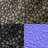 Kopfstein entsteint nahtlose erzeugte Beschaffenheit (diffundieren Sie, stoßen Sie, normal) stock abbildung