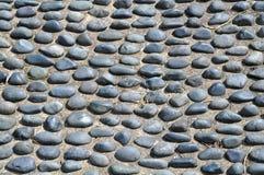 Kopfstein-Steinfußboden Lizenzfreies Stockbild