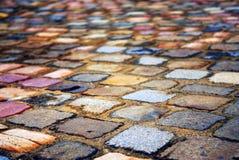 Kopfsteinhintergrund Stockbilder