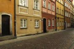 Kopfsteinsteinstraße stockfoto