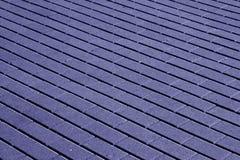 Kopfsteinsteinstraßenbelagmuster im blauen Ton Lizenzfreies Stockfoto
