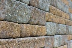Kopfsteinwand Stockfoto
