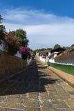 Kopfsteinweg auf Barichara, Kolumbien Lizenzfreies Stockfoto