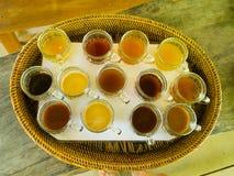 Kopi Luwak herbaty i kawy testowanie w Bali wyspie w Indonezja, nad widok Obrazy Royalty Free
