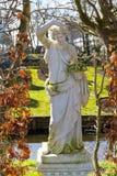 Kopia antyczna statua w ogródzie, Zaanse Schans wioska, Holandia obrazy stock