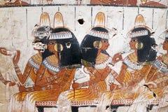 Kopia av den forntida egyptiska illustrationen och hieroglyf royaltyfri bild