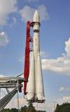 Kopia av raket Vostok på utställning för VDNH (VDNKh) i Moskva Ryssland Arkivbilder