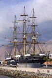 Kopia av skeppet Esmeralda i Iquique, Chile Arkivfoton