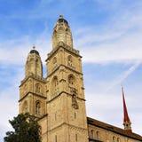 Kopia góruje Grossmunster w Zurich obraz stock