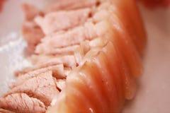 Kopia gotujący wieprzowina plasterki zdjęcia royalty free