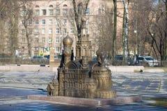Kopia krwi katedra na wiosna dniu Czerep skład «St Petersburg w miniaturze zdjęcie royalty free