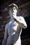 Kopia Michelangelo ` s David w Florencja obraz stock