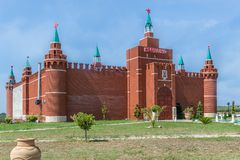 Kopia Moskwa Kremlin w Grecja zdjęcia stock