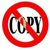 kopia nie royalty ilustracja