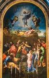 Kopia ołtarz transfiguracja obraz Raphael Sanzio 1520 wśrodku St Peter bazyliki w Watykan obrazy stock