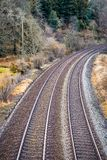 Kopia pociągów ślada w Cornwall fotografia stock