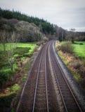 Kopia pociągów ślada w Cornwall zdjęcie royalty free