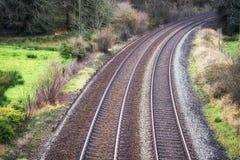 Kopia pociągów ślada w Cornwall obraz royalty free