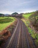 Kopia pociągów ślada w Cornwall obrazy stock