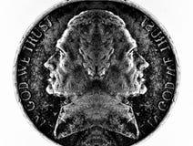 Kopia Przewodząca moneta Srebna Amerykańska pieniądze gotówka zdjęcie royalty free