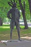 Kopia sławna rzeźba Peter 1 w Kolomna oryginał z czego jest w centrum Antwerp Zdjęcia Royalty Free