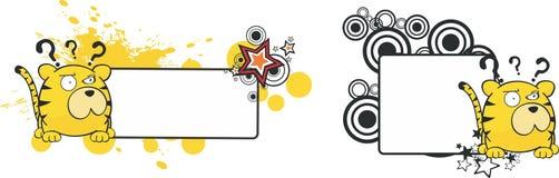 Kopia space2 för stil för tigertecknad filmboll royaltyfri illustrationer