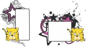 Kopia space5 för stil för tigertecknad filmboll stock illustrationer