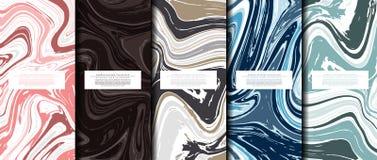 Kopia-utrymme för mall för bakgrund för textur för marmormodellsamling abstrakt vektor vektor illustrationer