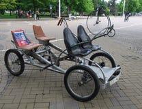 Kopia velomobile w ulicach Krasnodar zdjęcia stock