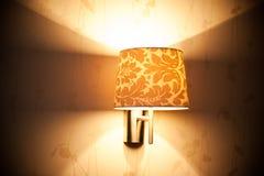 kopia wliczając lampowej jaśnienia przestrzeni ściany Zdjęcie Royalty Free
